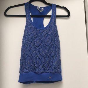 Aeropostale blue laced top